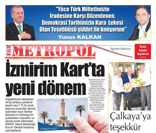Ege Metropol Gazetesi 167. Sayı