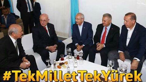 Büyük Türkiye'ye yakışan bir tablo!.. Birlik, Dirlik Demokrasi için tek millet tek yürek...