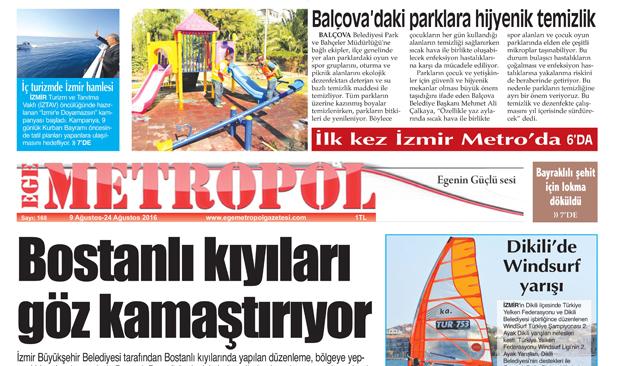 Ege Metropol Gazetesi 168 Sayısı