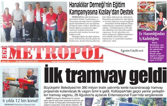 Ege Metropol Gazetesi 169. Sayısı