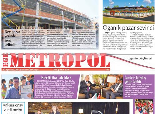 Ege Metropol Gazetesi 29 Ağustos Özel Sayısı