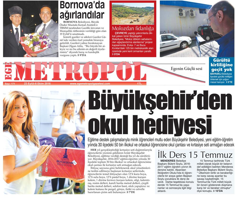 Ege Metropol Gazetesi 170. Sayısı