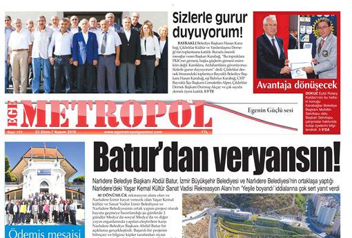 Ege Metropol Gazetesi 173. Sayısı