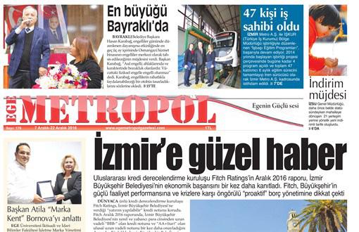Ege Metropol Gazetesi 176. Sayısı