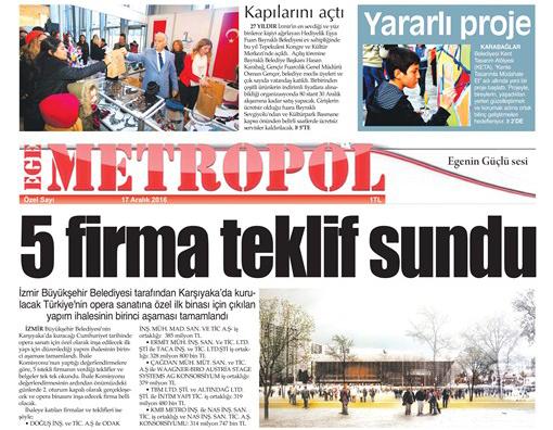 Ege Metropol Gazetesi Aralık Özel Sayısı