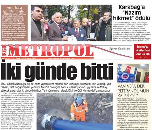 Ege Metropol Gazetesi 179. Sayısı