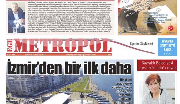 Ege Metropol Gazetesi 184. Sayı