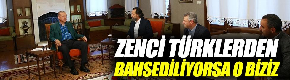 """Erdoğan'dan """"zenci Türk"""" açıklaması"""