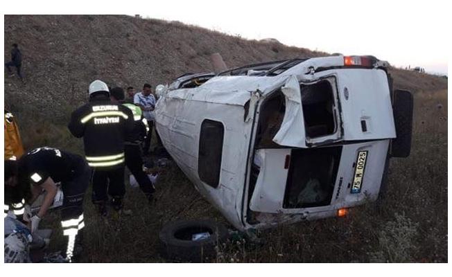 Ardahanlılar Erzurum'da kaza yaptı