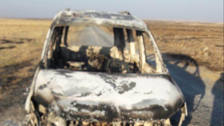 Karı koca araç içinde yanmış halde bulundu