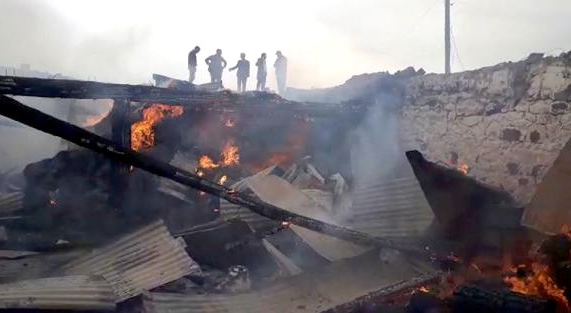 Ardahan'da büyük yangının nedeni araştırılıyor