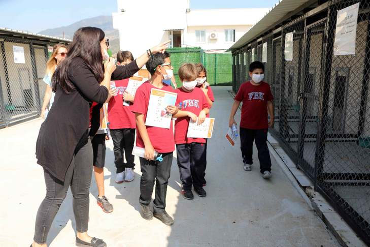 BAYRAKLI'DA ÖĞRENCİLER 'CAN DOSTLARI' ZİYARET ETTİ