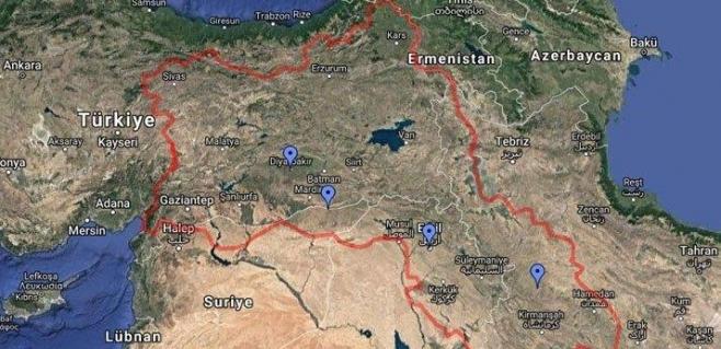 Google'da 'Kürdistan' propagandası