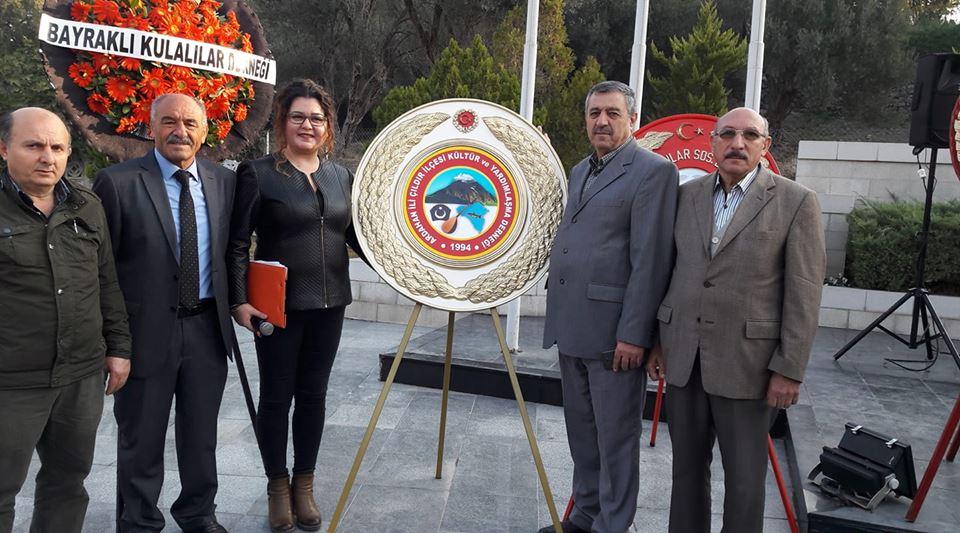 Ardahan İli Çıldır İlçesi Kültür ve Dayanışma Derneği 10 Kasım Atatürk'ü Anma Çelenk Sunma törenine katıldı