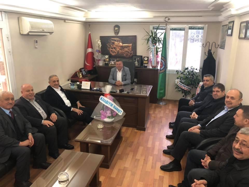Başkan Mahmut Badem'den Yeni Ziraat Odası Başkanına Ziyaret