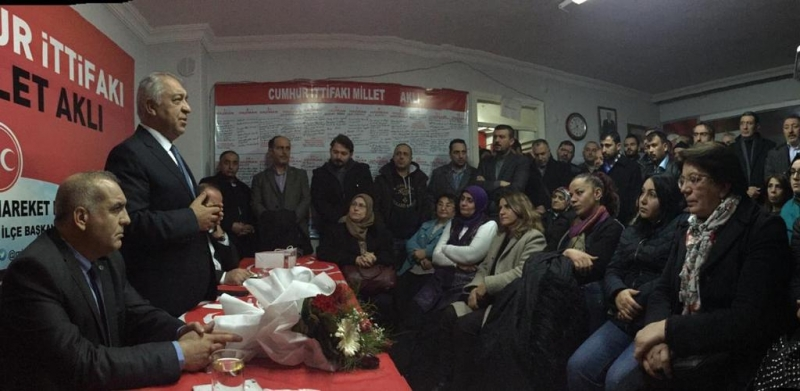 Karabağlar adayı doğan MHP İlçe başkanlığını ziyaret etti