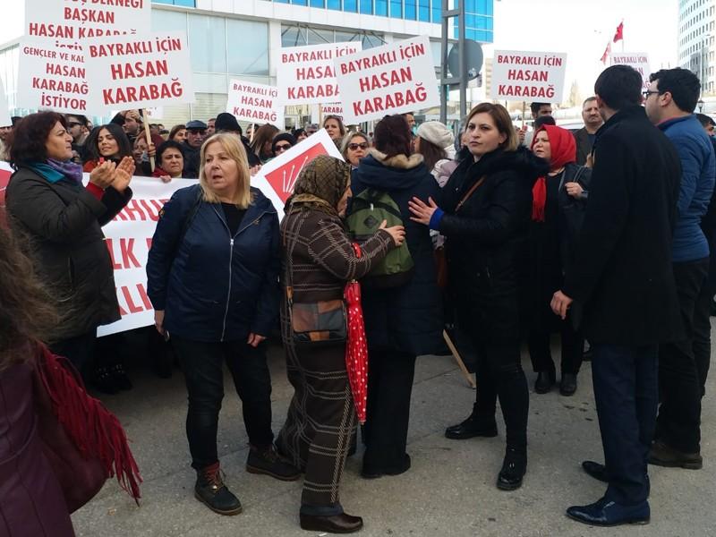 CHP Genel Merkezi'nde Hasan Karabağ eylemi
