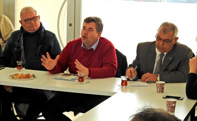 STK'ları ziyaret eden Ekrem Oran projelerini anlattı