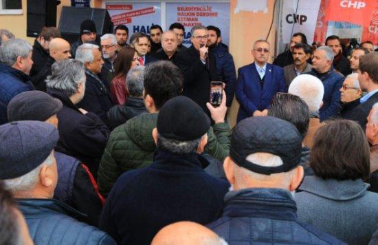 CHP, Sarnıç'ta seçim ofisini açtı