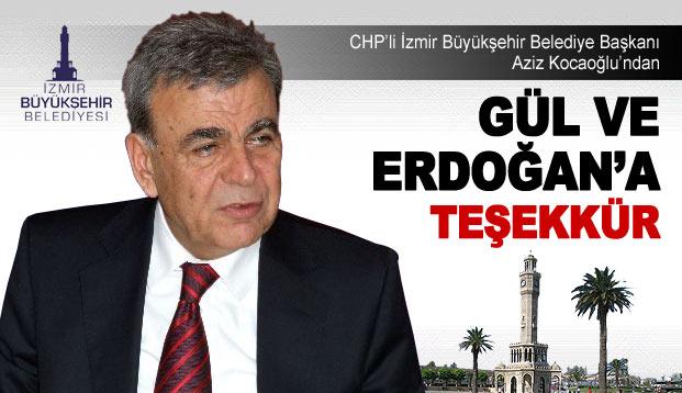 Gül ve Erdoğan'a teşekkür