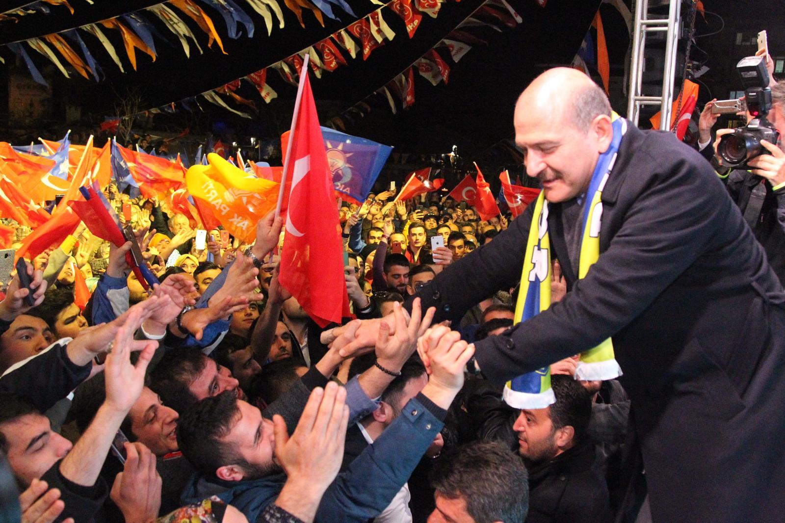 BAKAN SOYLU'DAN ARSLAN'A BÜYÜK DESTEK: EMRİNDEYİM