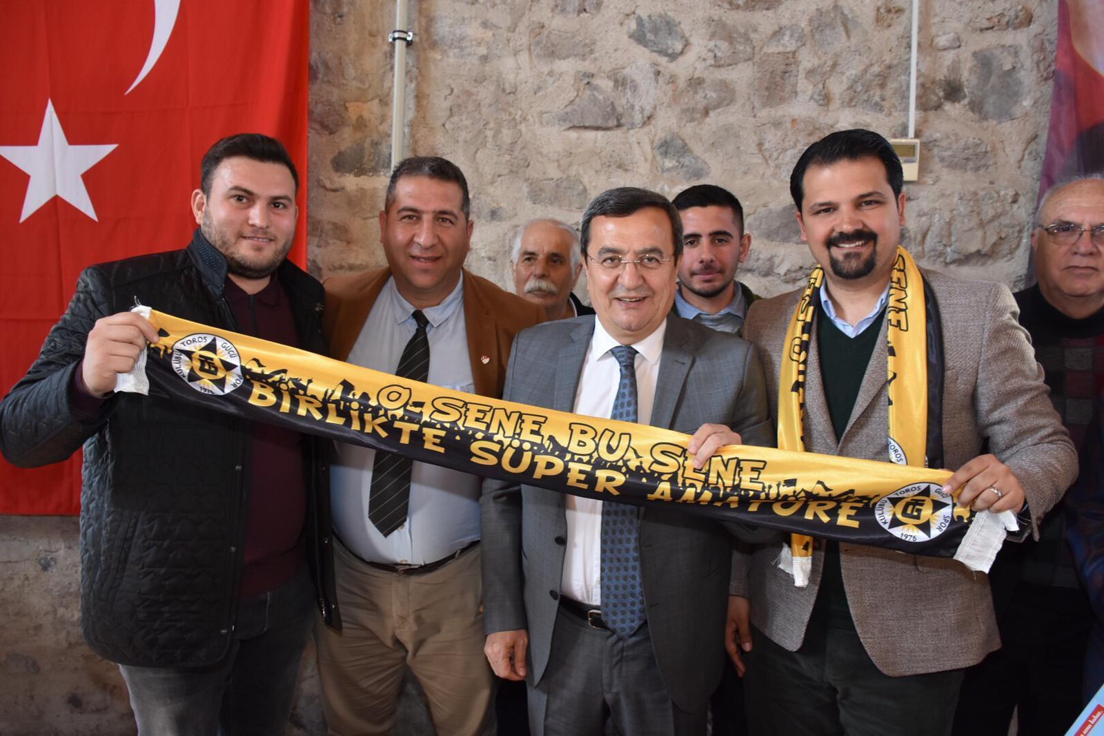 Amatör Spor Kulüpleri Batur'dan tesis ve destek istedi Batur'a tam destek hep destek