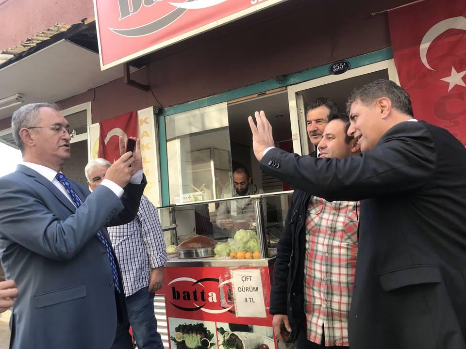 Vekil çekti başkan selam etti