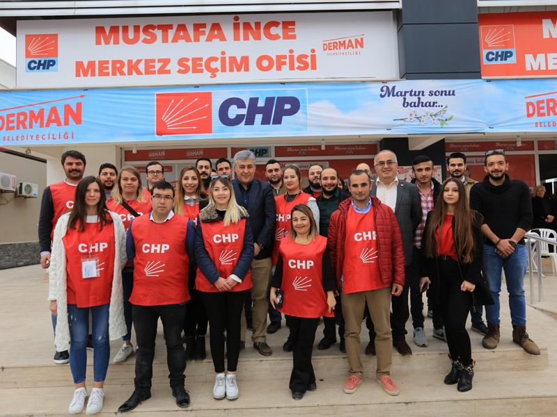 Başkan İnce'ye Gençlik Kolları'ndan büyük destek