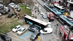 otobüsü kaza yaptı: Yaralılar var