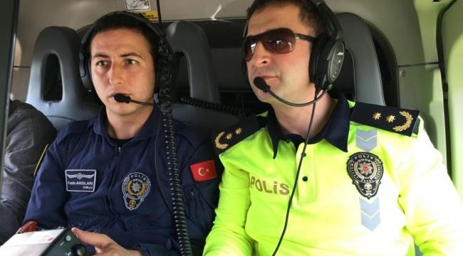 İzmir'de Kurallara uymayanlar helikoptere yakalanıyor