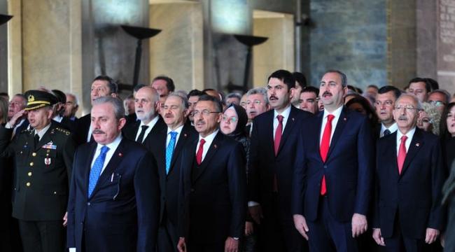 TBMM Başkanı Mustafa Şentop ve devlet erkanı Anıtkabir'de
