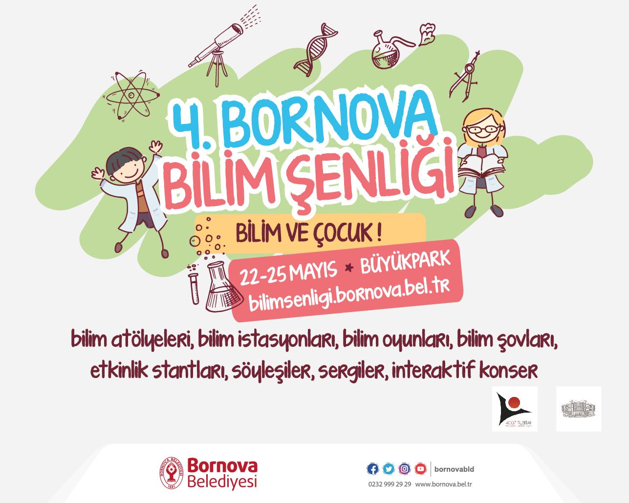 Bornova Belediyesi Bilim Şenliği 22-25 Mayıs tarihleri arasında gerçekleştirilecek