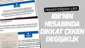 İBB, İmamoğlu paylaşımlarını sildi