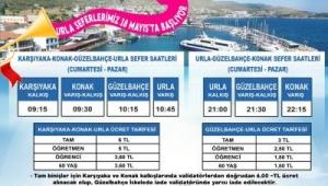 Urla vapur seferleri 18 Mayıs'ta başlıyor