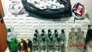Ardahan'da kaçak sigara ve alkol operasyonu