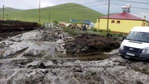 Ardahan'da Kuvvetli sağanak ve dolu hasara yol açtı