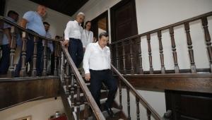 Başkan Batur Sahaya İndi