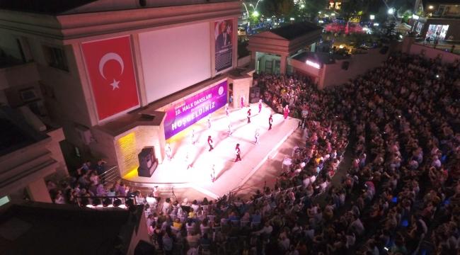 Menderes'te Binlerin Katılımıyla Halk Dansları Coşkusu