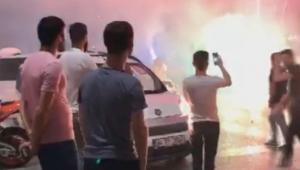 Sultangazi'de asker uğurlayan gençler ortalığı birbirine kattı
