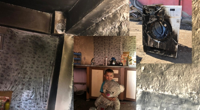 Ardahan Taşlıdere köyünde yangın, ev kül oldu