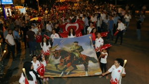 BAYINDIR'DA15 TEMMUZ DEMOKRASİ MEYDANI AÇILDI