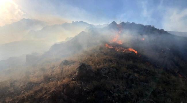 Ardahan Şeytan Kalesi'nde Yangın İtfaiye müdahale edemiyor