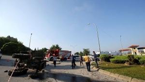Traktör devrildi: 14 yaralı