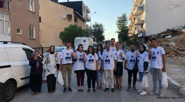 Yasin Börü için İzmir AK Parti Sosyal Politikalar kurban dağıttı.