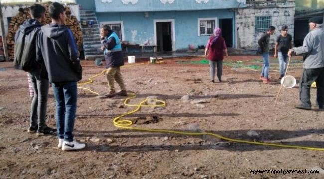 Ardahan Hanak'da iki katlı binada yangın