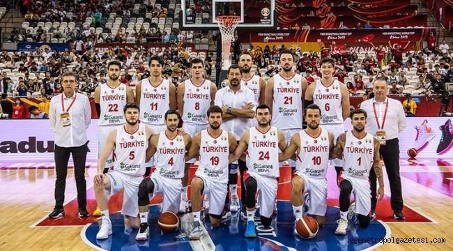 Türkiye A Milli Basketbol Takımı Olimpiyat Elemeleri'ne gidiyor