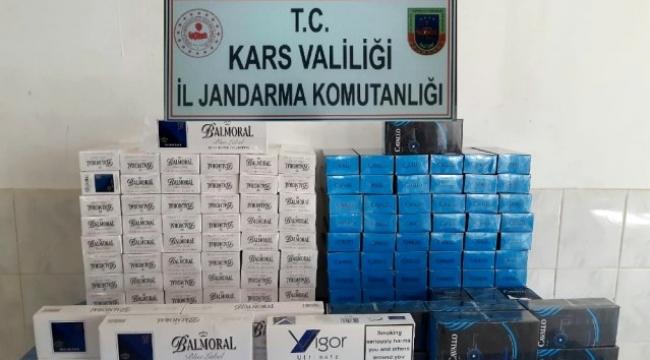 Bin 450 paket kaçak sigara yakalandı