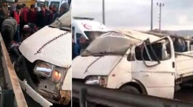Gelin almaya giden konvoy kaza yaptı 1kişi öldü