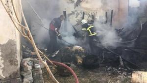 Kars'ta kömürlükte yangın çıktı
