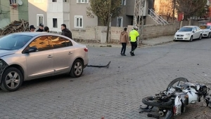 Sarıkamış'ta motosiklet kazası